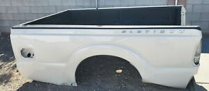 2011-16 FORD F250 F350 8' TRUCK BED BOX PASSENGER PANEL 8 FOOT LONG PEARL WHITE