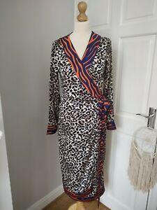 Never Fully Dressed M Margot Leopard Wrap Dress Midi