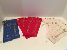1st 2nd And 3 Rd Place Winner Award Ribbons 3blue 6red 7white