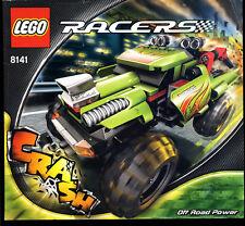 LEGO -- 8141 -- recipe -- Racers -- OFF ROAD POWER -- solo recipe -