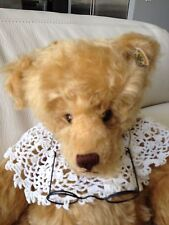 "KNICKERBOCKER GOLD MOHAIR FULLY JOINTED  20"" TEDDY BEAR"