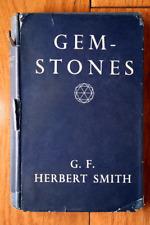 Gemstones by G.F. Herbert Smith 1952 Hc/Dj Color Plate Illustration Vintage Book