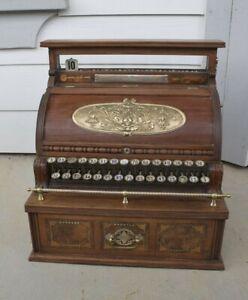 ANTIQUE 1886 Model 2 Deep Drawer Wooden Wood National Cash Register NCR Brass
