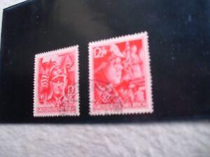 2 äusserst seltene Briefmarken 20.4.1945 SA-Mann/SS-Mann