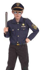Instant Police Kit Law Enforcement Uniform Halloween Costume Accessories Child