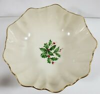 Vintage Christmas Lenox Special Holly & Berries Bowl Made In USA