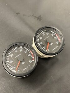 AST ELECTRONIC 80mm REV COUNTER x1 TACHOMETER 4 6 8 CYLINDER MINI RALLY-KITCARV8
