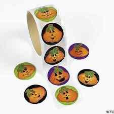 Pumpkin Stickers Halloween Party Favor