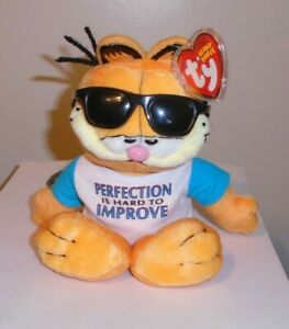 Ty Beanie Baby - GARFIELD PERFECTLY LOVEABLE (9 Inch) MINT with MINT TAGS