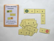 Teacher Made Literacy Center Educational Resource Letter Recognition Dominoes