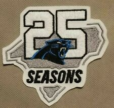 Camiseta de Jersey Carolina Panthers Nº 25 temporada de fútbol Jersey Parche Parche Aniversario De Plata