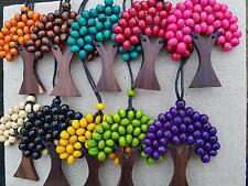 wholesale wooden tree of life pendant TOL2 set of 10
