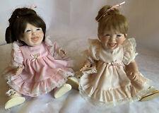2 Vintage Lloyd & Lee Middleton Dolls Coolville Oh Early Porcelain Missy Dolls