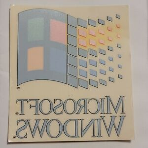 "Vintage Microsoft Windows Logo Decal, Window Cling 3.5"" x 4.5"""