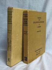 Vintage TESTS FOR COLOUR BLINDNESS  S. Ishihara HC Slipcase 1961 Complete Kit
