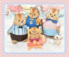 ❤️Lil Woodzeez Scamperscoots Chipmunk Family Mom Dad Calico Critters Li'l Lot❤️