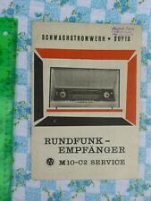Serviceanleitung Radio M10-C2 Elprom KB Schwachstromwerk Sofia 1964