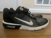 Nike Air Max Sequent 2 Mens 852461-005 Black/White Running Size 13 US