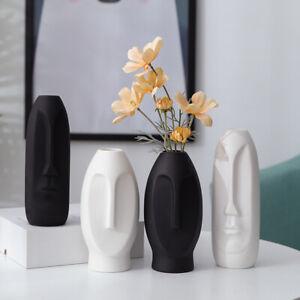 Modern Nordic Body Face Vase Ceramic Art Tabletop Flower Pot Abstract Home Decor