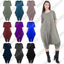 Ladies Short Sleeve Baggy Harem Jumpsuit Italian Drape Lagenlook Summer Playsuit