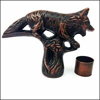 SOLID HEAD ANTIQUE FOX VINTAGE HANDLE FOR WALKING STICK CANE HEAD HANDLE STYLE
