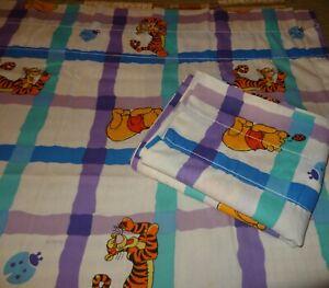 "Vintage Lot 2 Disney ""Winnie The Pooh"" Window Curtains Set 80"" x 63"" FREE S/H"