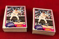 Lot of 110 Cards 1981 Topps Bobby Murcer Baseball Card # 602  RG1