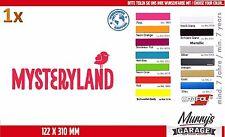 Mysteryland 122 x 310mm Aufkleber, Sticker, Decal, Autocollant, Étiquette