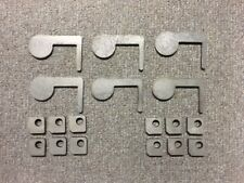"""AR500 Steel Target 22cal Dueling Tree DIY Kit 6pc 2""""x1/4 Paddles with Tabs! USA"""