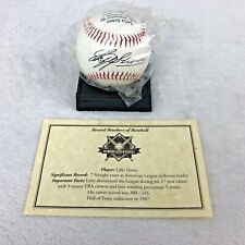 NEW Lefty Grove Baseball W/ Record History, Picture, Replica Autograph & Stand