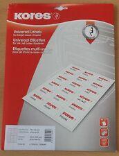 Kores Universal Etiketten 70x36 mm, Absender, Adressen Aufkleber weiß 600 Stck
