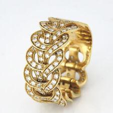 NYJEWEL Versace 18k Solid Gold Fabulous 2ct Diamond Flexible Ring