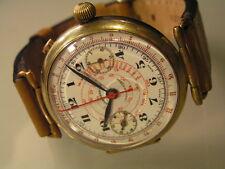 Rare Early Oversize EBERHARD Wrist Chronograph Montbrillant / Breitling M. 1920s