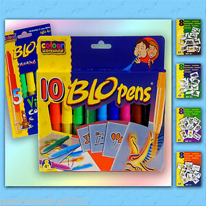 Blopens Pustestifte Blo Pen Blopen Schablonen Airbrush Rainbow Colour Stifte