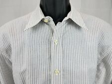 DUNHILL London Engineered Fit Men's Size L Button Down Long Sleeve Striped Shirt