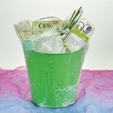 Military Wife Mom  Luxurious Nail Spa Gift Basket Lime Green Olay Nail Care