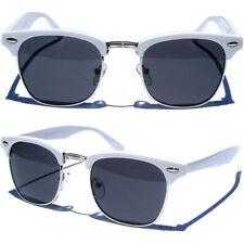 Retro half Frame Sunglasses WHITE and SILVER COLOR FRAME RETRO Horn Rim SUNNIES