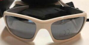 NEW Serfas MASH Cycling Sunglasses 100% UV White/Silver Frames Silver Multi Lens