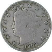 1909 Liberty Head V Nickel 5 Cent Piece AF About Fine 5c US Coin Collectible