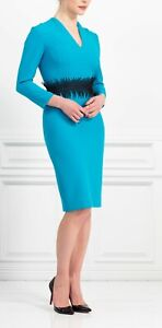 Brand new with the tags designer dress turquoise colour size 16