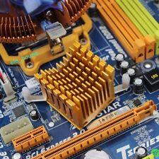 DIY Gold Aluminum PC Computer Northbridge Chipset Fin Cooler Heatsink 40x38x36mm