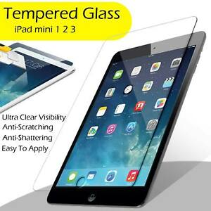 Real Tempered Glass Film Screen Protector For iPad Mini 1/2/3 9H Clear HD Touch