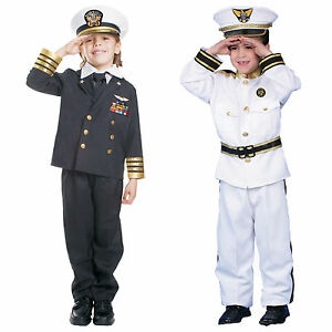 Navy Admiral Costume - Ship Captain Uniform For Boys By Dress Up America