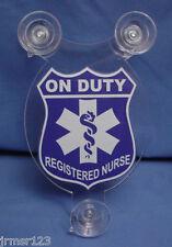 REGISTERED NURSE or REGISTERED DOCTOR CAR SHIELD   NURSE DOCTOR  MEDICAL ITEM