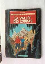 La Vallée Des Cobras , Hergé , Édition 1957