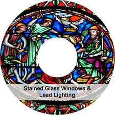 How to Design Make Stained Glass Windows Lead Lighting Books PDF's on CD