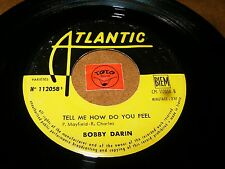BOBBY DARIN - TELL ME HOW DO YOU FEEL - AIN'T  / LISTEN - MOD SWING JAZZ POPCORN
