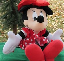 "Vintage Disney Talk 'N Giggle Minnie Mouse Plush Mattel 31"""