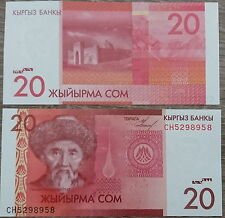 Kirgisistan /  Kyrgyzstan - 20 Som 2009 UNC - Pick 24