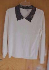 Mercer street studio size S with COLLAR white sweater